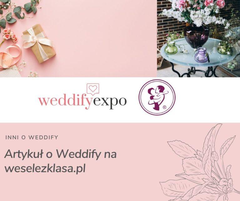 Artykuł o Weddify na weselezklasa.pl